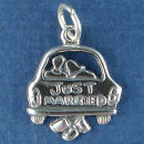 Wedding Just Married Sterling Silver Charm Favor for Wedding Charm Bracelet