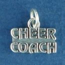 Cheer Coach Charm Sterling Silver