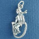 Sterling Silver Jump Rope Charm with Girl