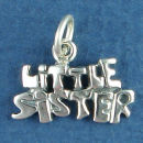 Sister, Little Word Phase Sterling Silver Charm Message Pendant