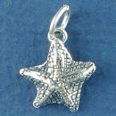 Starfish 3D Sterling Silver Charm Pendant Sized for a Charm Bracelet