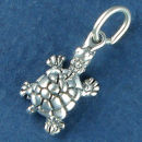 Turtle Charm Small Sterling Silver Pendant Sized for a Charm Bracelet