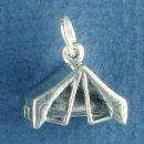 Tent for Camping and Scouting 3D Sterling Silver Charm Pendant