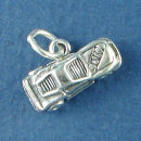 Car Nascar Style Race Car Sterling Silver Charm for Charm Bracelet