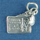 Driver License Man with Set Car Keys Sterling Silver Charm Pendant