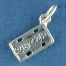 License Plate for Car 3D Sterling Silver Charm Pendant