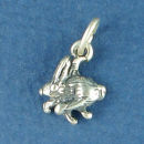 Bunny Rabbit Hare Sterling Silver Charm Pendant
