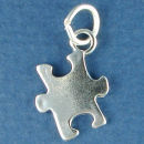 Puzzle Piece 3D Sterling Silver Charm Pendant add to a Charm Bracelet