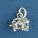 Couch Potato 3D Sterling Silver Charm Pendant add a Charm Bracelet