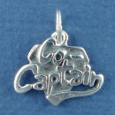 Sports Charm Captain Co Sterling Silver use on a Charm Bracelet