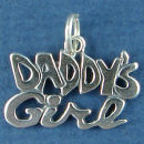 Daddy's Girl Family Sterling Silver Charm Pendant