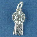 1st Place Ribbon Sports Charm Sterling Silver