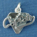 Captain Sports Sterling Silver Charm Pendant add to Charm Bracelet