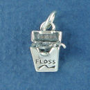 Dental Floss used in a Dentist Occupation 3D Sterling Silver Charm Pendant