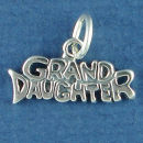Grand Daughter Word Phrase Sterling Silver Charm Message Pendant