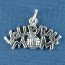 Volleyball Mom Sports Sterling Silver Charm Pendant use with a Charm Bracelet
