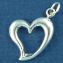 Heart Floating Sterling Silver Charm Pendant