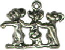 Three Blind Mice 3D Sterling Silver Charm Pendant