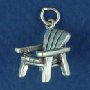 Chair Charm Sterling Silver 3D