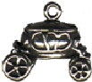 Carriage 3D Sterling Silver Charm Pendant