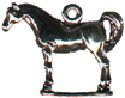 Horse Standing 3D Sterling Silver Charm Pendant