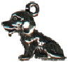 Dog Sitting 3D Sterling Silver Charm Pendant