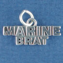 Military Marine Brat Word Phase Sterling Silver Charm Pendant