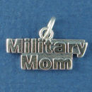 Military Mom Sterling Silver Charm Pendant