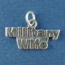 Military Wife Sterling Silver Charm Pendant