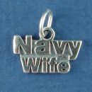 Military Navy Wife Sterling Silver Charm Pendant