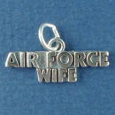 Military Air Force Wife Sterling Silver Charm Pendant