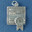 Graduation Diploma for Doctorate Degree School Unrolled 3D Sterling Silver Charm Pendant