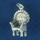 Wicker Chair 3D Sterling Silver Charm Pendant