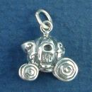 Cinderella's Pumpkin 3D Carriage Sterling Silver Charm Pendant