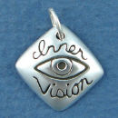 Affirmation Charm Inner Vision Sterling Silver Charm Pendant