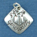 Affirmation Charm Gifts of Generosity Sterling Silver Charm Pendant