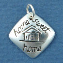 Affirmation Charm Home Sweet Home Sterling Silver Charm Pendant