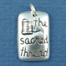 Affirmation Charm The Sacred Thread Sterling Silver Charm Pendant
