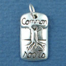 Affirmation Charm Common Roots Sterling Silver Charm Pendant