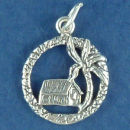 Hawaiian Grass Hut Sterling Silver Charm Pendant
