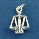 Scales of Justice Legal Occupation 3D Sterling Silver Charm Pendant