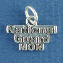 Military National Guard Mom Sterling Silver Charm Word Phase Pendant