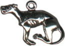 Dog, Grey Hound 3D Sterling Silver Charm Pendant