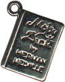 School Reading Book Moby Dick 3D Sterling Silver Charm Pendant