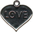 Love, Heart Sterling Silver Charm
