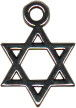 Religious Jewish Star of David 3D Sterling Silver Charm Pendant