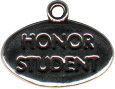 School Honor Student Word Child's Sterling Silver Charm for Charm Bracelet