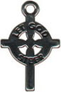 Cross Let God Steer Sterling Silver Charm
