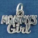 Mommy's Girl Sterling Silver Word Phase Family Charm Pendant