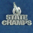 State Champs Charm Word Phrase Sterling Silver Pendant